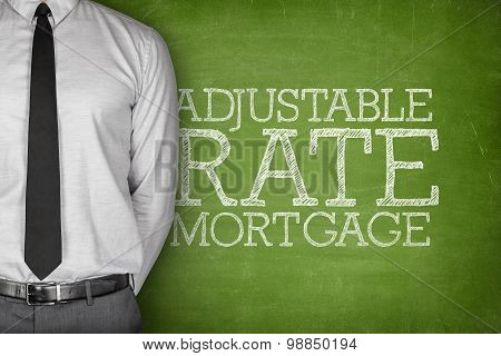 Adjustable rate mortgage text on blackboard