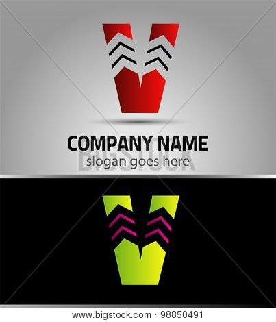 Letter V logo vector alphabet shape. V concept type as logo