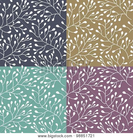 Floral Seamless Texture Pattern.