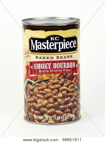 Can Of Kc Masterpiece Baked Beans