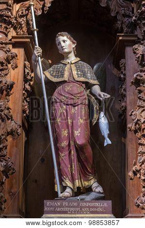 Chapel Of San Rafael (old Chapel Of San Vidal), Cathedral Of Avila, Spain