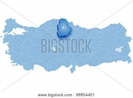 Map Of Turkey, Corum