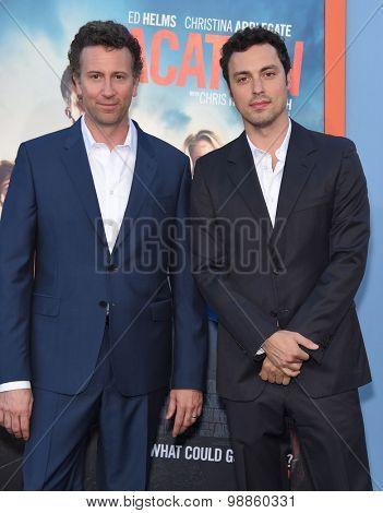 LOS ANGELES - JUL 27:  Jonathan Goldstein & John Francis Daley arrives to the