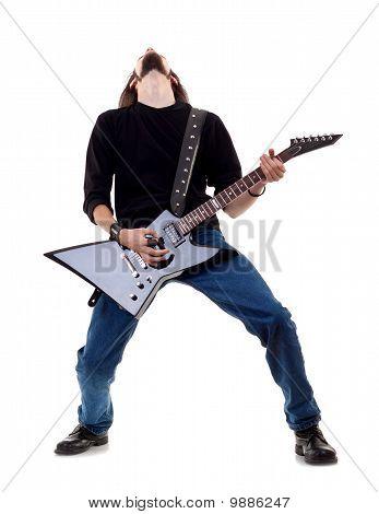 Musician Plays The Guitar