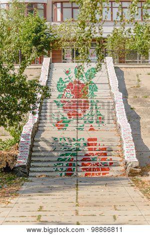 Flowery Stairs