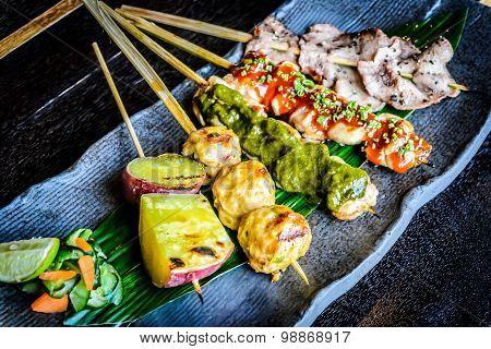 Kushiyaki 5 Kinds Moriawase Chef's choice of 5 kinds skewers