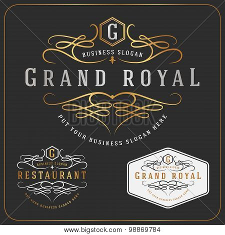 Luxurious Royal Logo Vector Re-sizable Design Template