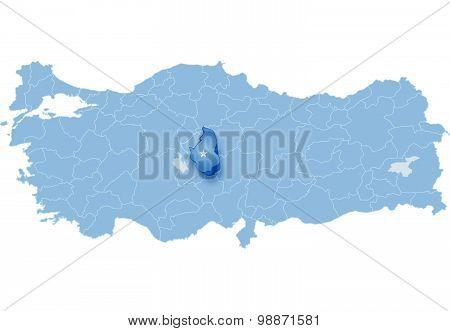 Map Of Turkey, Nevsehir