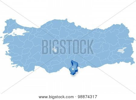 Map Of Turkey, Hatay