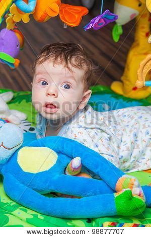 Baby Boy On Playmat