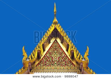 Thai style triangle on the roof
