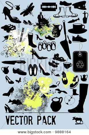 Shoes - VECTOR PACK| Collection of abstract vector