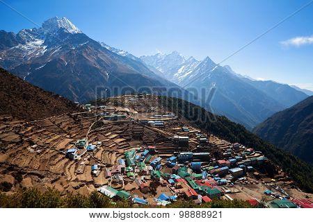 Namche Bazaar village, Nepal