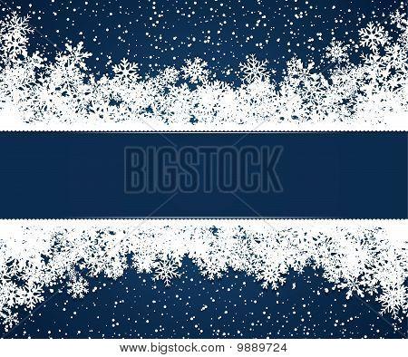 Blue Christmas Frame