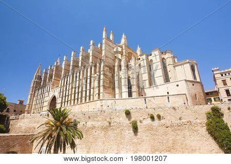 Cathedral of Palma de Majorca island Majorca Spain
