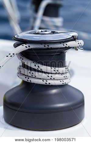 Detail Of The Yacht Equipment