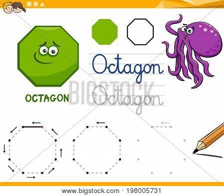 Octagon Cartoon Basic Geometric Shapes