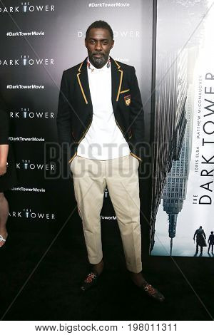 NEW YORK-JUL 31: Idris Elba attends