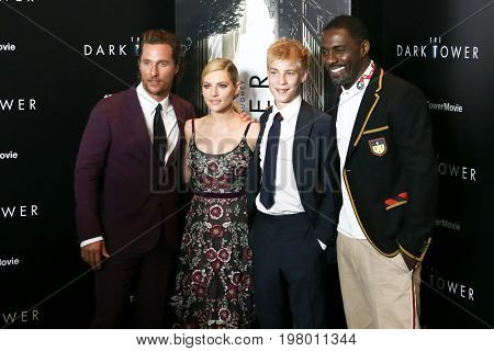 NEW YORK-JUL 31: (L-R) Matthew McConaughey, Katheryn  Winnick, Tom Taylor and Idris Elba attend