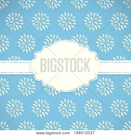 Frame on a background with floral seamless pattern. Vector illustration.
