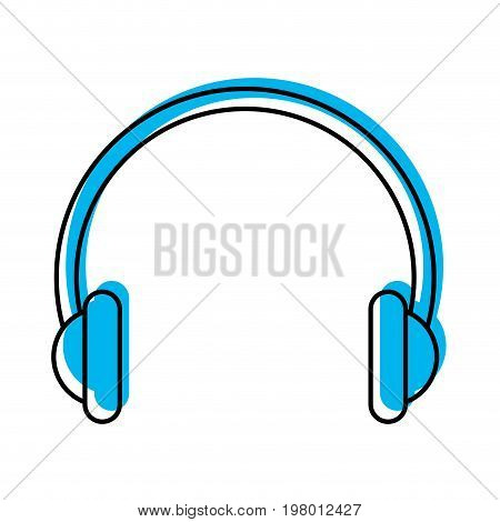 audio earphones isolated icon vector illustration design