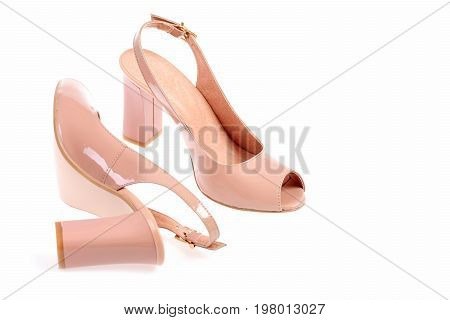 Summer Accessories: High Heel Sandals In Pink Colour