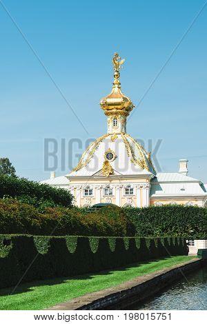 Peterhof, St. Petersburg, Russia - July 27, 2017.