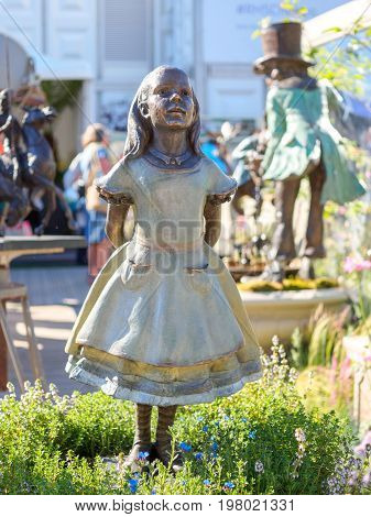 LONDON UK - MAY 25 2017: RHS Chelsea Flower Show 2017. Lewis Carroll's