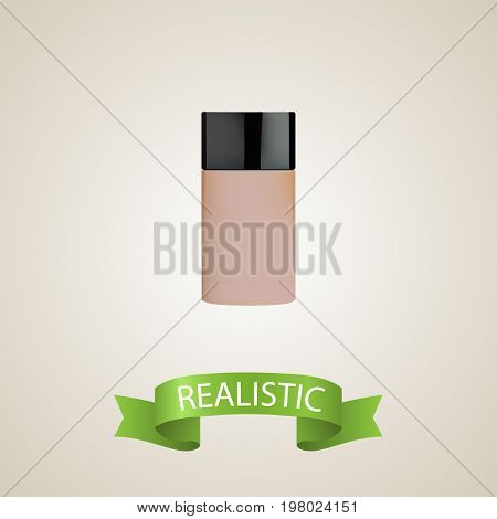 Realistic Foundation Element. Vector Illustration Of Realistic Concealer Isolated On Clean Background