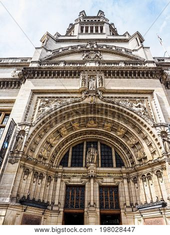 Victoria And Albert Museum In London (hdr)