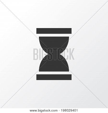 Premium Quality Isolated Sandglass Element In Trendy Style.  Hourglass Icon Symbol.