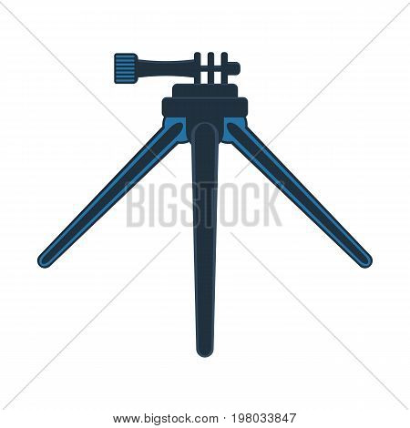 Tripod mount for action camera isolated vector icon. Outdoor activity, nature traveling equipment element.