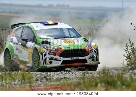 Tulcea, Romania - June 11: Competitors In Danube Delta Rally Stage In National Rally Championship &