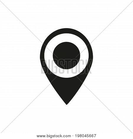 Icon of determining location. Map pointer, marker, gps. Transportation concept. Can be used for topics like traveling, route, adventure