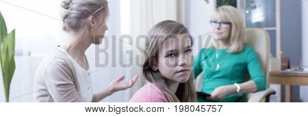 Offended Girl During Therapy