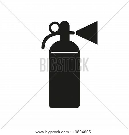 Icon of fire extinguisher. Fire prevention, danger, spraying. Security concept. Can be used for topics like emergency, rescue, equipment