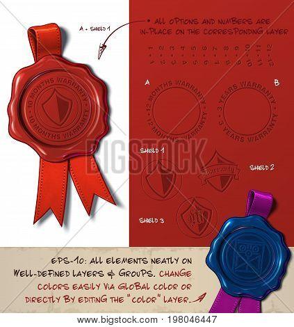 Wax Seal - Shield Warranty Months Years