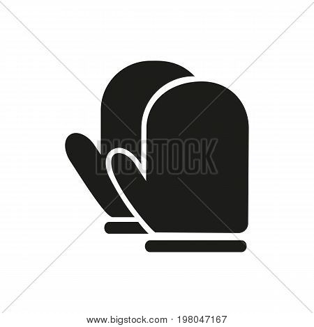 Icon of kitchen mittens. Protective glove, heat, domestic life. Kitchen concept. Can be used for topics like chef, housework, bakery