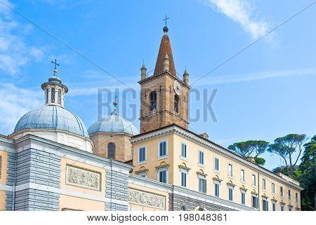 Rome Piazza del Popolo the S.Maria del Popolo church