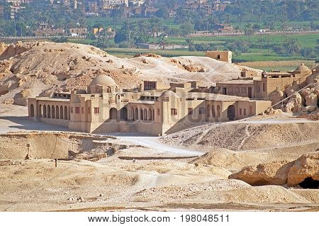 Palace in Luxor, Egypt. Famous touristic place