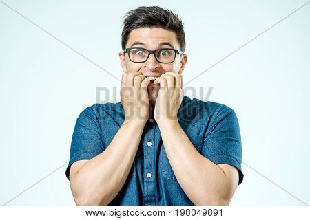 Caucasian Man With Surprised Expression