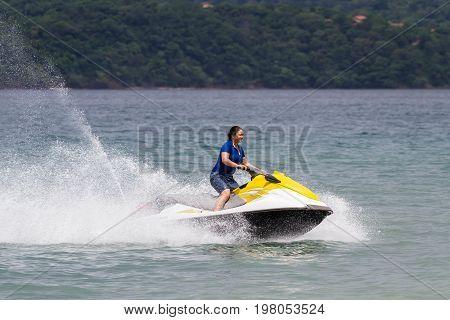 Wave Runner On The Beach