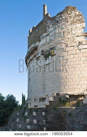 ItalyRome the Cecilia Metella mausoleum in Via Appia Antica