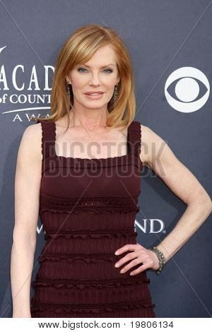 LAS VEGAS - APR 3:  Marg Helgenberger arriving at the Academy of Country Music Awards 2011 at MGM Grand Garden Arena on April 3, 2011 in Las Vegas, NV.