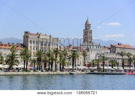 SPLIT, CROATIA - JULY 12, 2017: Diocletian's Palace in Split, Croatia.