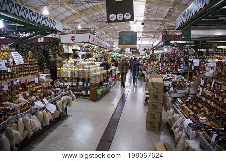 Curitiba, Brazil: Interior Architecture Of The Municipal Market In Curitiba, Parana, Brazil With Loc
