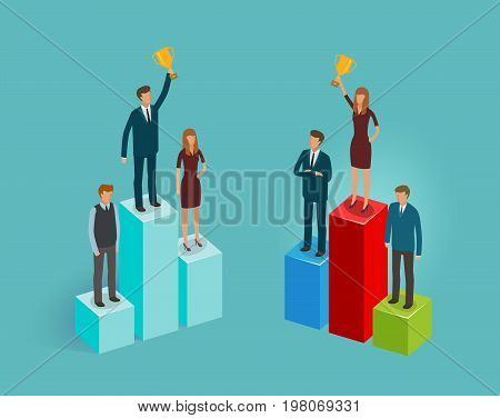 Business concept. Infographics, chart graph vector illustration