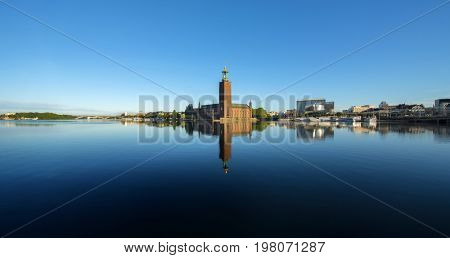 The city hall, Stockholm early morning