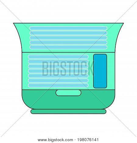 Solarium Is Horizontal Open Isolated. Apparatus For Sunbathing.