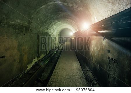 Technological tunnel of cable collector under Sevastopol, Russia